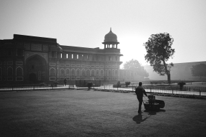 Mowing the Palace Lawn