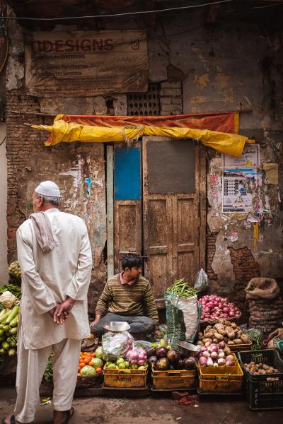 Stripey Vegetable Seller